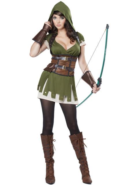 Disfraz de arquera Robin de los bosques para mujer