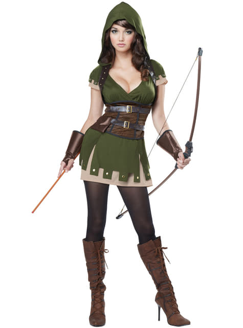 Boogschutter Robin uit het bos Kostuum voor vrouw