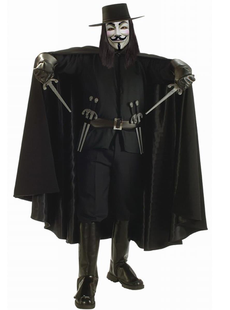 costume de v pour vendetta haut de gamme funidelia. Black Bedroom Furniture Sets. Home Design Ideas