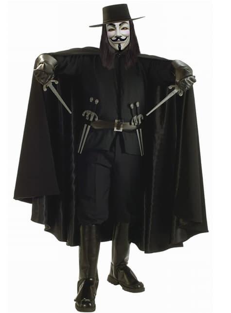 Disfraz de V de Vendetta Lujo