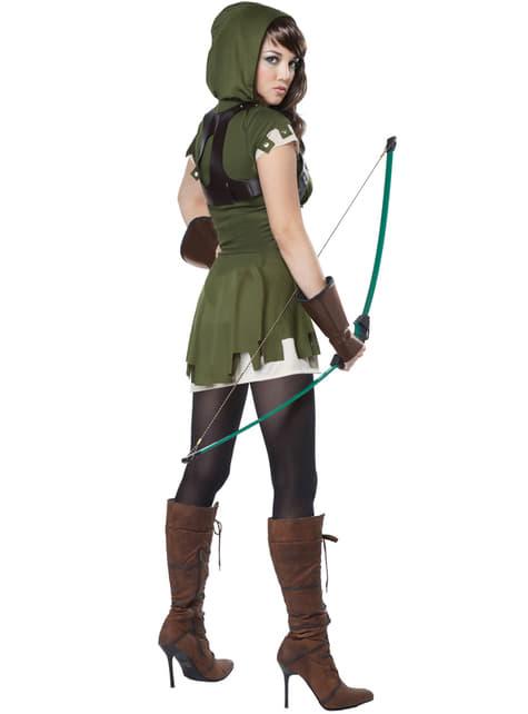 Kostium łuczniczka Przygody Robin Hooda damski