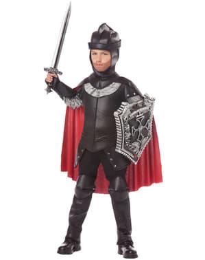Schwarzer Ritter Kostüm für Jungen