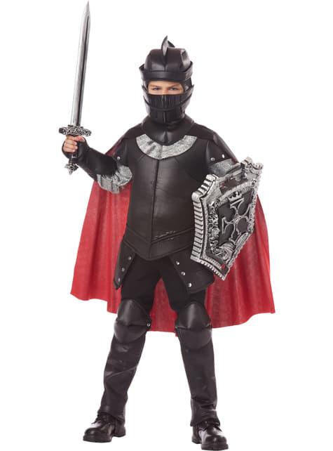 Zwarte ridder Kostuum voor jongens