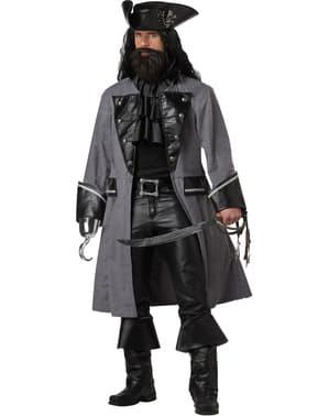 Fato de pirata Barba Negra para homem