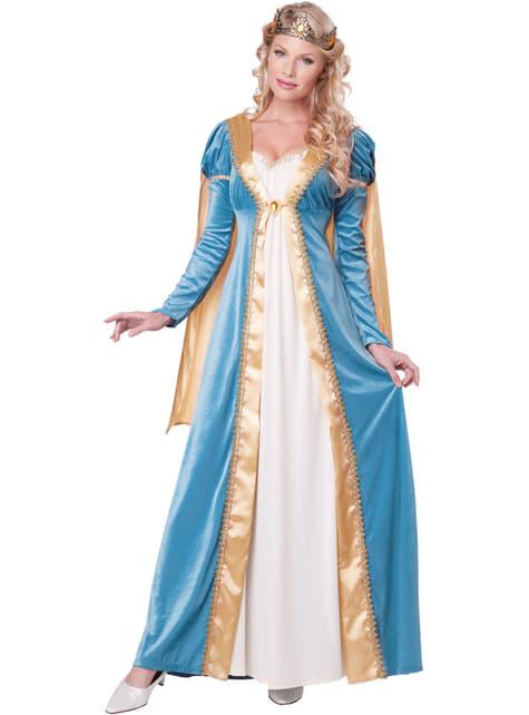 Női középkori királynő jelmez