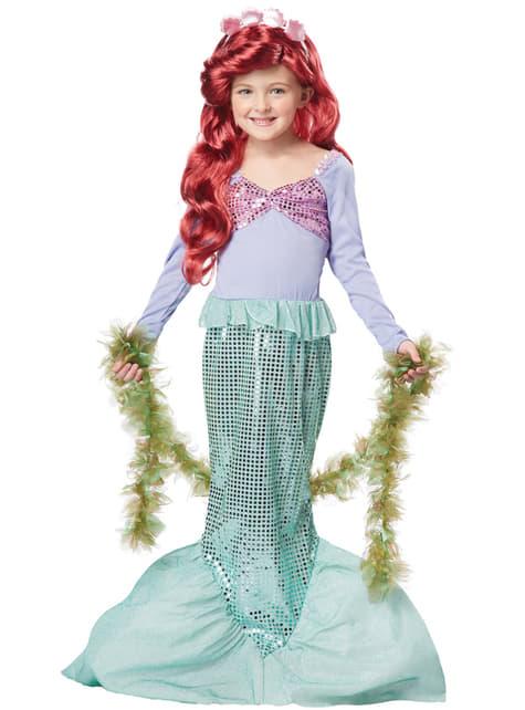 Disfraz de sirena brillante para niña