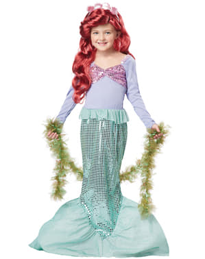 Costum de sirenă strălucitoare pentru fată