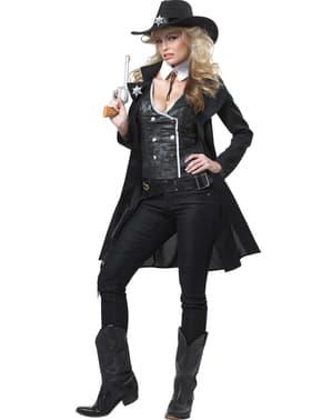 Fato de xerife do condado para mulher