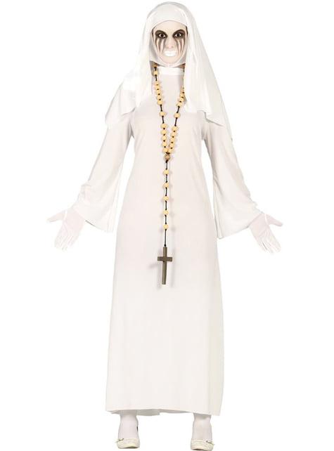 Fato de freira fantasmal para mulher