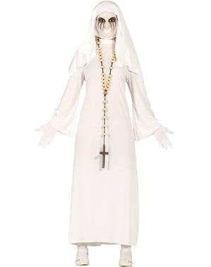 Disfarce de freira zombie para mulher