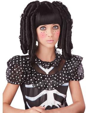 Pruik skelet pop voor meisjes