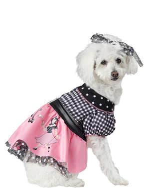 50er Jahre Kostüm für Hunde