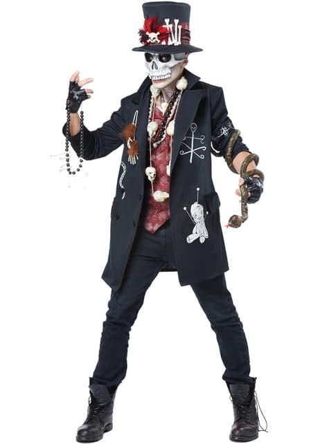 Déguisement squelette vaudou homme