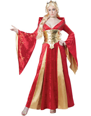 Déguisement Reine rouge médievale femme
