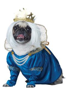 Disfraz de reina medieval para perro