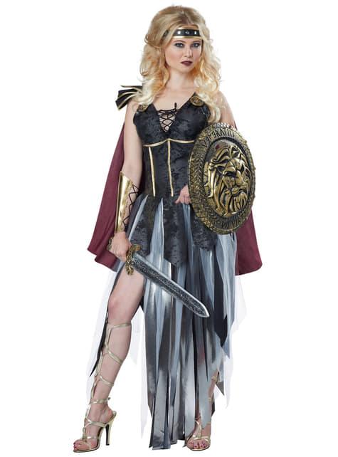 Disfraz de gladiadora fiera para mujer