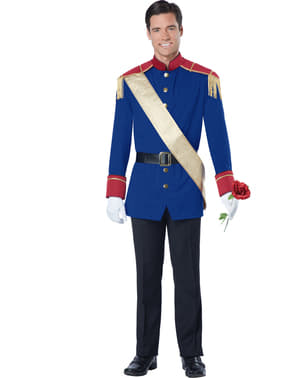 Disfraz de príncipe de cuento de hadas para hombre