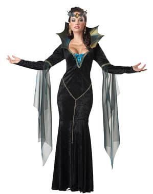 Costum de vrăjitoare malefică pentru femeie