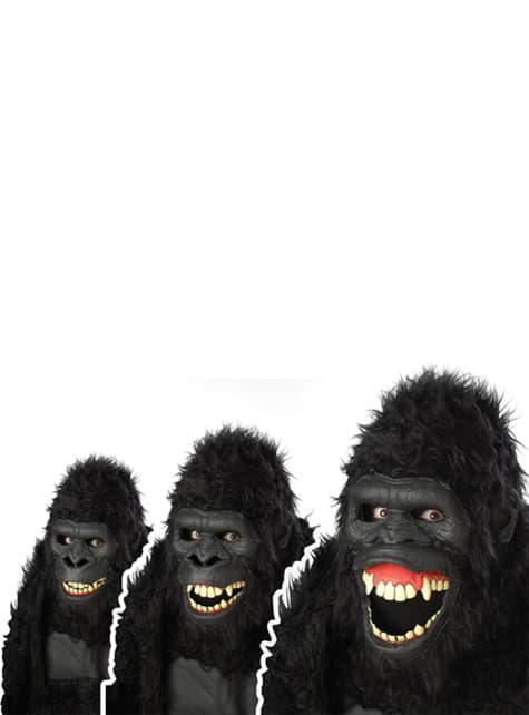 Máscara de gorila selvático para adulto - barato