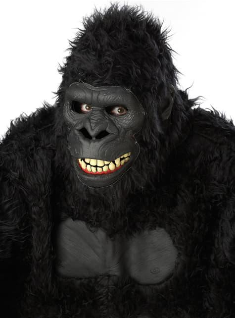 Máscara de gorila selvático para adulto