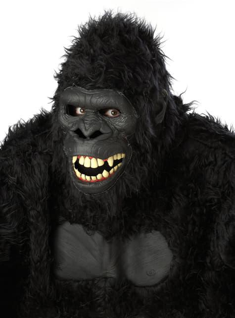 Máscara de gorila selvático para adulto - original