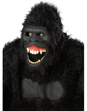 Máscara de gorila selvagem para adulto
