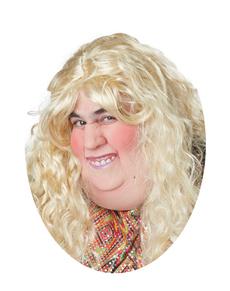Media máscara de señora gorda para adulto
