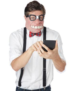 Klassenstreber Halbmaske für Herren