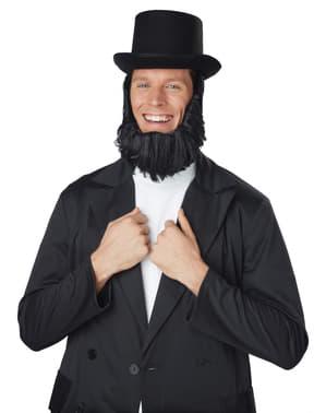 Chapeau Abraham Lincoln avec barbe homme