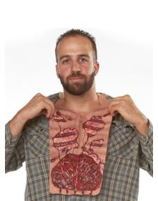Pechera cuerpo desgarrado de zombie para hombre