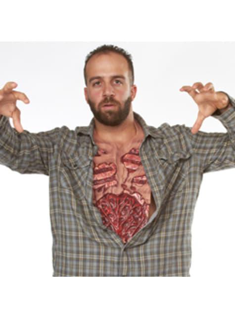 Pechera cuerpo desgarrado de zombie para hombre - original