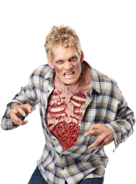 Pechera cuerpo desgarrado de zombie para hombre - barato
