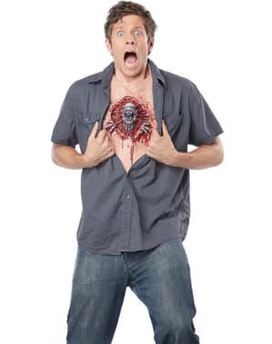 Torse Parasite dans le corps homme