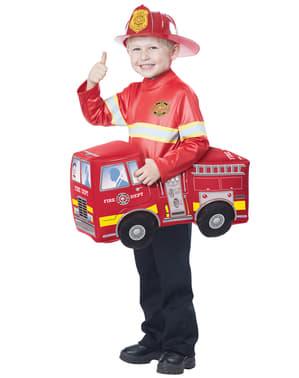 Fato de bombeiro heroico para menino