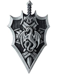 Kit espada y escudo del Señor de los Dragones