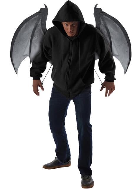 Alas de murciélago oscuro para adulto