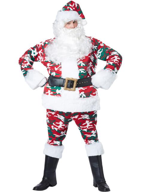 Disfraz de Santa Claus camuflado para hombre