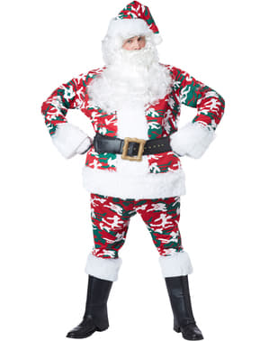 Men's Camouflaged Santa Claus Costume