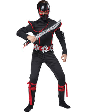 Kit máscara y espada ninja para niño