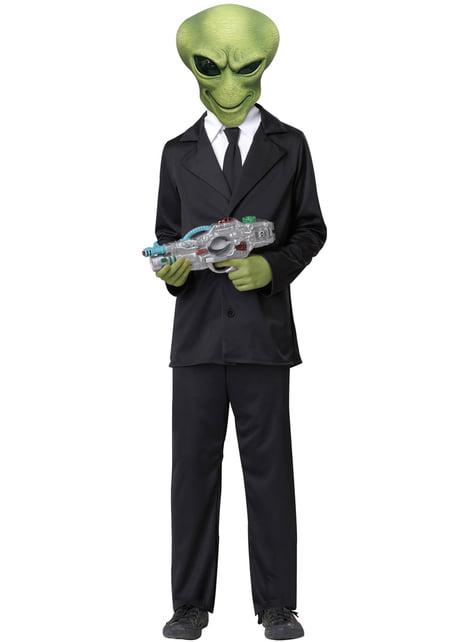 Kit masque et mains d'alien enfant