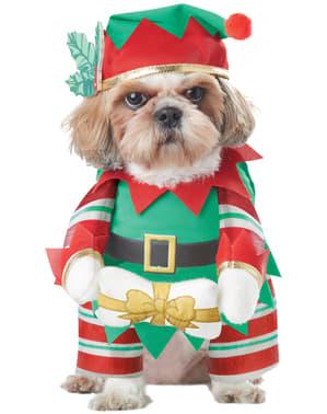 Déguisement lutin de Noël chien