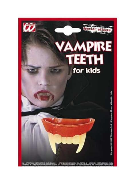 Zęby Draculi dla dziecka
