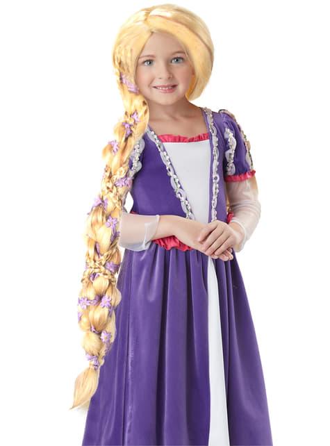 Peruca de princesa loira e comprida para menina