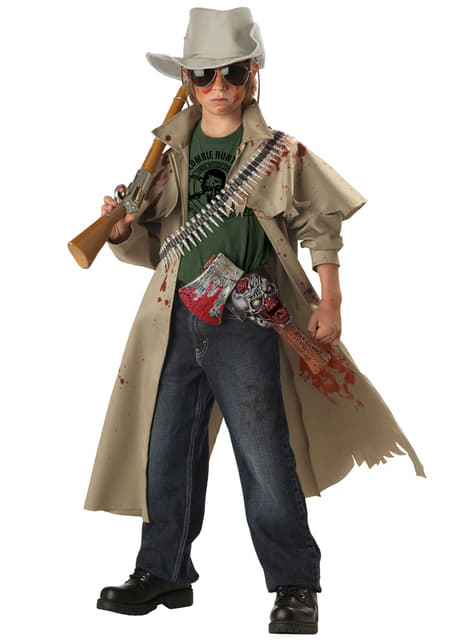 Fato de caçador de zombies para menino