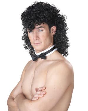 Kit perucă de playboy brunet pentru bărbat