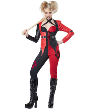 Women's Psychopathic Harlequin Costume