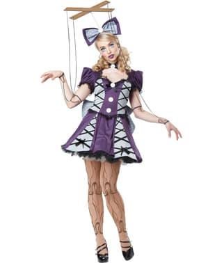 Fato de marionete com fios para mulher