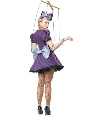Maskeraddräkt Marionettdocka med trådar dam