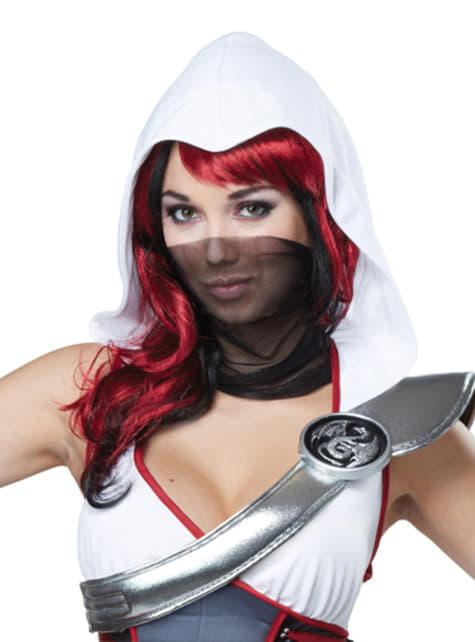 Disfraz de asesina ninja blanca para mujer - original