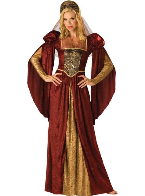 Fato de beleza medieval para mulher
